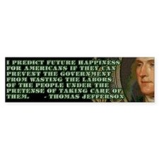 Jefferson on Wasted Labours Bumper Bumper Sticker
