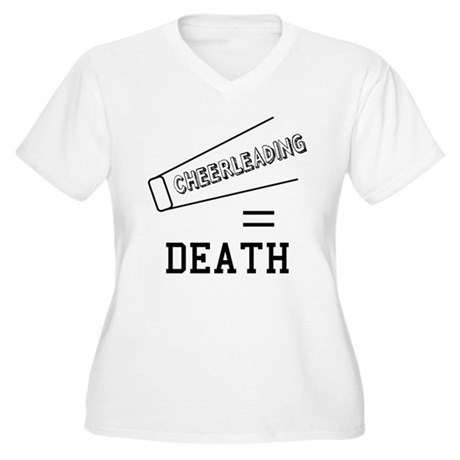 Cheerleading Equals Death Womens Plus Size V-Neck