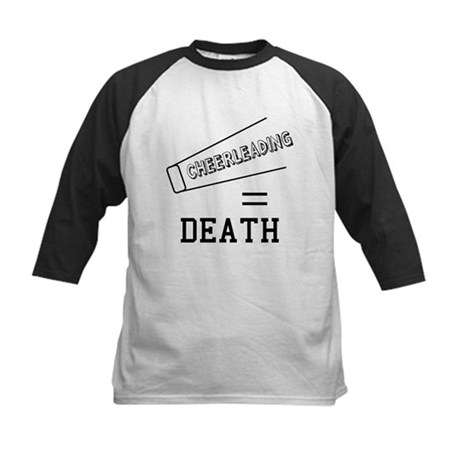 Cheerleading Equals Death Kids Baseball Jersey