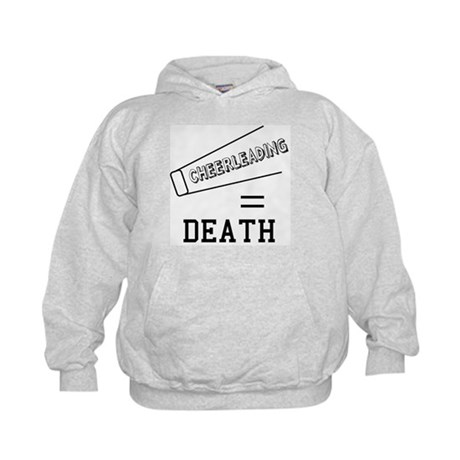 Cheerleading Equals Death Kids Hoodie
