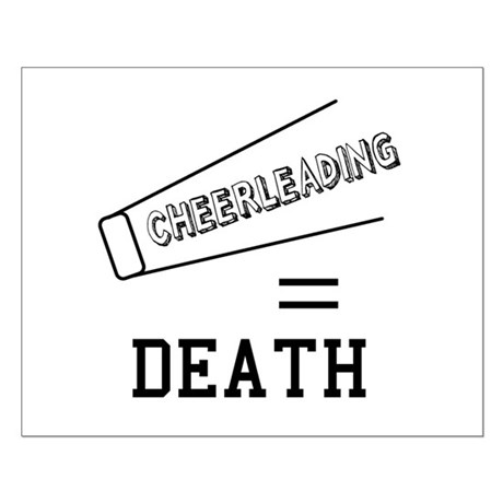 Cheerleading Equals Death Small Poster