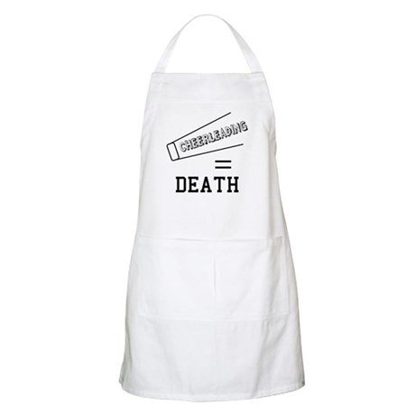 Cheerleading Equals Death BBQ Apron