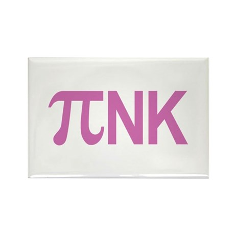 Pi nk Pink Rectangle Magnet