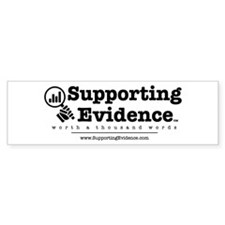 Supporting Evidence Logo Bumper Bumper Sticker