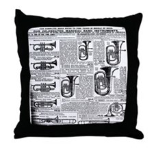 Sears Catalog Tuba Page Throw Pillow