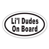 Li'l Dudes On Board Oval Decal