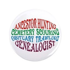 "Ancestor Hunting 3.5"" Button"