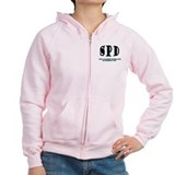 SPD 3 back/blue Zipped Hoodie