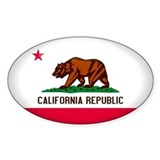 California Crest Oval Decal