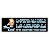Churchill on Taxation Bumper Bumper Sticker