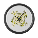 Buttercup and friends mandala Large Wall Clock