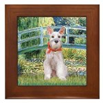 Bridge/Schnauzer #9 Framed Tile