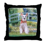 Bridge/Schnauzer #9 Throw Pillow