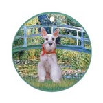 Bridge/Schnauzer #9 Ornament (Round)