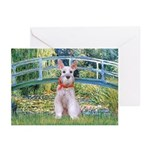 Bridge/Schnauzer #9 Greeting Cards (Pk of 20)
