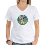 Bridge/Schnauzer #9 Women's V-Neck T-Shirt