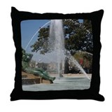 Philadelphia Throw Pillow: Swann Fountain
