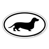 Dachshund Euro Oval  Aufkleber