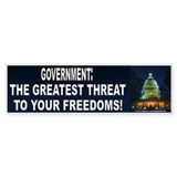 Government Threat (sticker)