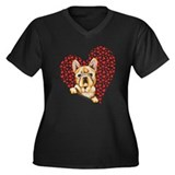 French Bulldog Lover Women's Plus Size V-Neck Dark