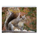 Squirrel Wall Calendar