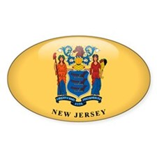 New Jersey Oval Sticker (10 pk)