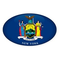 New York Oval Sticker (10 pk)