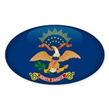 North Dakota Oval Sticker (50 pk)