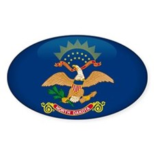 North Dakota Oval Sticker (10 pk)