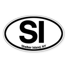 Shelter Island Oval Decal