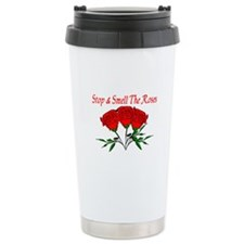 Smell The Roses Ceramic Travel Mug