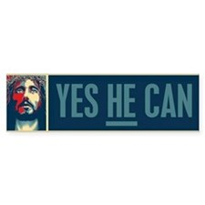 Yes HE Can Bumper Sticker