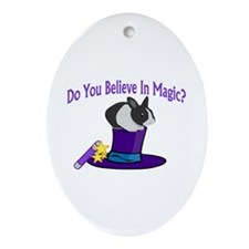 Believe In Magic Oval Ornament
