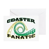Coaster Fanatic Greeting Card