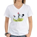 Plymouth Rocks Columbian Women's V-Neck T-Shirt