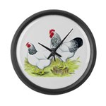 Plymouth Rocks Columbian Large Wall Clock