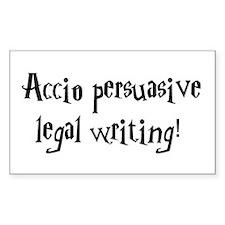 Accio persuasive legal writing! Decal