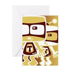 TV Mascot Greeting Card