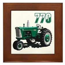 Funny Vintage farm Framed Tile
