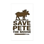 Save Pete the Moose Rectangle Sticker 10 pk)