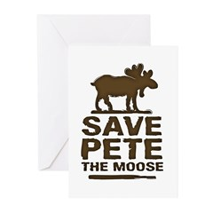 Save Pete the Moose Greeting Cards (Pk of 10)