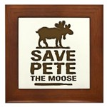 Save Pete the Moose Framed Tile
