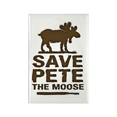 Save Pete the Moose Rectangle Magnet