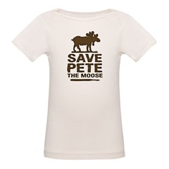 Save Pete the Moose Organic Baby T-Shirt