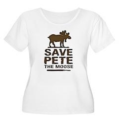Save Pete the Moose Women's Plus Size Scoop Neck T
