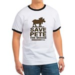 Save Pete the Moose Ringer T
