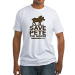 Save Pete the Moose Fitted T-Shirt