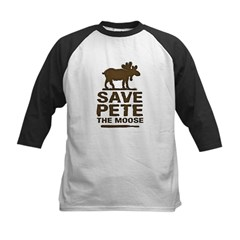 Save Pete the Moose Kids Baseball Jersey