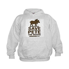 Save Pete the Moose Kids Hoodie