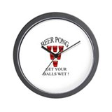 Beer Pong Wall Clock